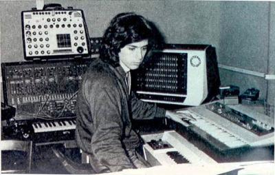 Jean Michel Jarre en studio, en 1976