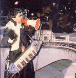 Jean Michel Jarre pendant les préparatifs du concert des Docklands, en octobre 1988.