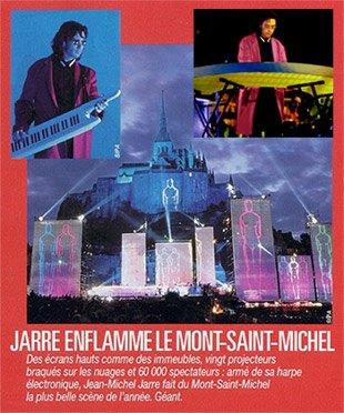 Coupure de presse après le concert du Mont-Saint-Michel, en 1993.