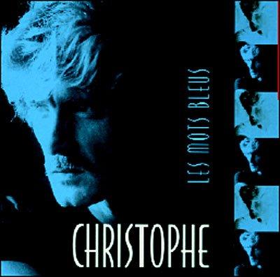 Pochette des Mots bleus de Christophe (réédition Sony/Dreyfus 2004)