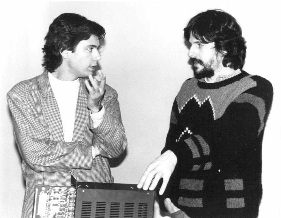 Peter Vogel (Fairlight instruments) et Jean Michel Jarre