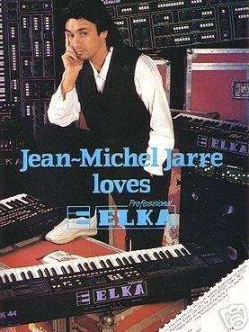 Jarre loves Elka, publicité de 1987 pour le synthétiseur italien.