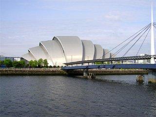 Le Clyde Auditorium de Glasgow, où se produira Jarre le 20 mai 2009 dans le cadre de sa tournée In-doors 2009