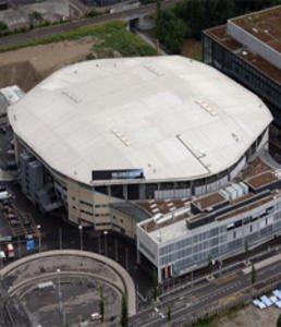 Le Hallenstadion de Zürich où s'est produit Jarre le 30 mai 2009