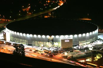 Hartwall Arena d'Helsinki, en Finlande, où devrait s'est produit Jean michel Jarre le16 mai 2009.