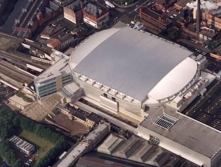 Le Manchester Arnea où se produira Jarre le 23 mai dans le cadre de sa Tournée In-doors