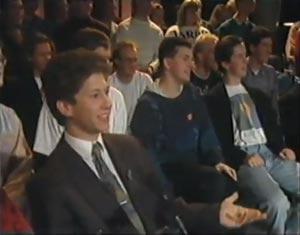 Les fans de Jean Michel Jarre à la tv hollandaise en 1991