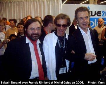 De gauche à droite : Sylvain Durand, Francis Rimbert et Michel Geiss