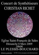 Concert de Christian Richet en 2009