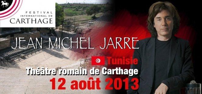 Jean Michel Jarre en concert à Carthage le 12 août 2013 dans Concerts / Jarre image